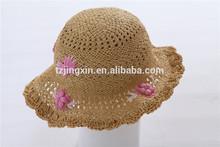 lovely children paper straw hat summer knit bucket hat