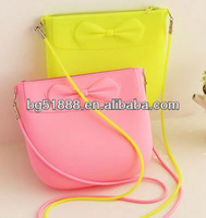 2014 Hot Sale Fashion Candy Color Jelly Silicone Rubber Ladies Handbags With Butterfly Wholesale Alibaba China Printing LOGO