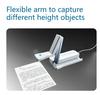 HDMI VGA and USB 5Mega pixel foldable document camera scanner