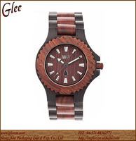 The Newest Design Mix Color Waterproof Wooden Watch With Date