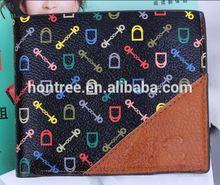 custom cheap genuine leather money bag cases for men