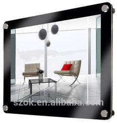 2014 modern design clear acrylic wall hanging digital photo frames