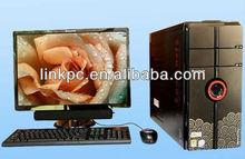Assembled Cheap Desktop PC Computer 19inch Monitor 80GB/DVD/2GB DIY Desktop Computer DIY Computer PC