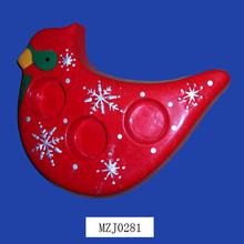 New and Popular Cardinal Red Bird Porcelain Candle Cup
