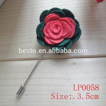 3.5 cm handmade felt fabric pocket brooch flower men's lapel flower for suit