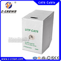 Cat6 utp al aire libre del cable de lan cable/cable de red/belden cat6 cable al aire libre