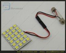 Panel White 24-5050SMD lED Car Interior Dome Reading Light Bulb Lamp