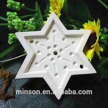 ceramic aroma stone air freshener with star shape
