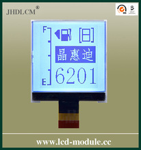 3 inch graphic lcd module display with 6'clock JHD128128-G02BSW-BW