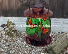 solar metal bird feeder/garden solar bird care/popular bird water feeder