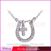 Meaningful beautiful gold pendants necklace & unique cross necklaces FPN729
