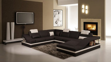 American office furniture,wood frame sofa bed,natural leather sofa C1158
