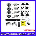 CCTV CMOS 800TVL Security Cameras Kit with H264 8ch DVR system