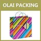 Sale gift bag,paper bag ,colored stripe custom paper bag