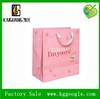 Luxury pink color Gift kraft Paper handle Bag