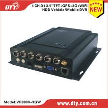 DTY VR8800W 4 channel WiFi car mdvr for bus mini bus school bus