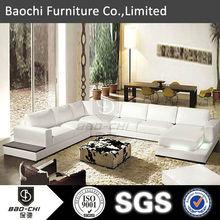 Baochi white leather sofa,natural root wood furniture,value city furniture leather sofas C1165