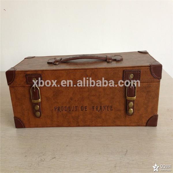 luxury leather wine box