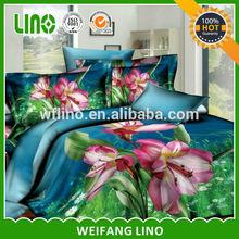 100% cotton 40s 133*72 reactive printing 3d comforter sets sunflower