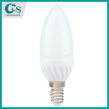 3W/4W/5W Plastic + Aluminum C37 Candle led bulb ultra brightness led candle light