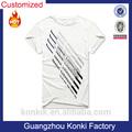 Neues design komprimiert siebdruck hanf t-shirt