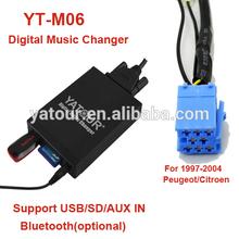 Yatour Vcarlink digital Music changer YT-M06 for Peugeot/Citroen RD3>USB/SD/AUX/Bluetooth car radio kit