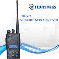 Td-v77 alta bateria de rádio em dois sentidos handheld rádio em dois sentidos moda modelo