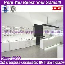 White mdf retail store furniture display for eyewear wall mount