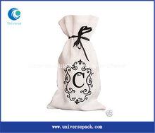 Oem screen printed cotton wine bags