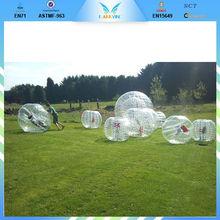 PVC /TPU inflatable bumper ball,body zorbing bubble ball