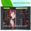 Lumina iso cabelo cartela de cores& cabelo cartela de cores fabricante