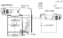 RGB vertical strip 1.6 inch sunlight readable tft lcd matrix/matrics active area 28.8*28.8 MCU interface