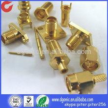 Custom Precision fabrication nuts brass nickel plated