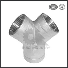 customized precision casted stainless steel y casting pipe fittings