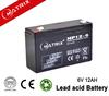 6v 12ah VRLA/SLA storage rechargeable sealed lead acid battery mobility set
