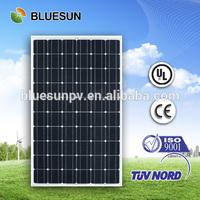 2014 year Bluesun high quality competitive price mono convenient transparent thin film260w monocrystalline solar flexible panels