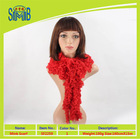 High quality 100%polyester very hot sexy girls knitted scarf wholesale