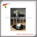 vidro mesa de canto com quatro rodas