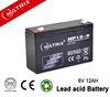 Sealed lead-acid rechargeable storage battery 6v 12Ah using for emergency door bell system