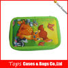 most popular fashion stationary green color zipper 2-layer pencil case