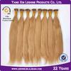100% Human Hair Keratin Glue Silky Straight I Tip Hair Extensions