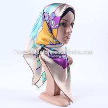 2014 new design abaya 100 silk fashion hijab