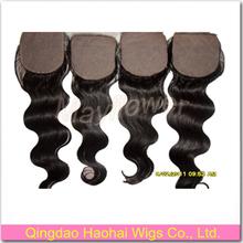 100% brazilian virgin hair silk based closure hidden knots body wave