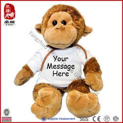 China Supplier Stuffed Plush Promotion Soft T-shirt Monkey