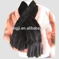 tejido a mano de piel de visón real bufanda de color negro