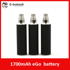 C-tratech Paypal acceptable ego vv mod electronic cigarette ego 1700mah twist battery ego c twist battery