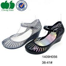 sexy stylish latest summer lady wedge heels sandals 2014