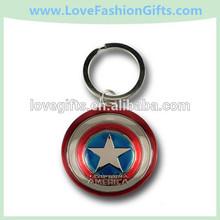 Captain America Movie Metal Shield Keychain