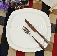 white square ceramic dessert dish