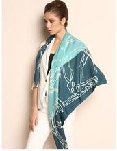 2014 new hand printed turkish pashmina shawl